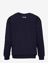 FILA - KIDS UNISEX CARL blocked crew sweat - sweatshirts - black iris-true red-bright white - 1