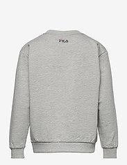 FILA - KIDS UNISEX CARL blocked crew sweat - sweatshirts - light grey melange bros-bright white-black iris - 1