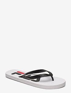 Troy Slipper - flip flops - white / black