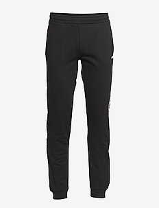 MEN TADEO tape sweat pants - BLACK