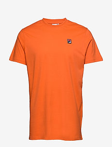 MEN SEAMUS tee ss - t-shirts - mandarin orange