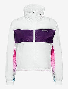 WOMEN EZRIA cropped wind jacket - anoraks - bright white-colour gradient