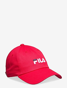 UNISEX DAD CAP linear logo - petten - true red