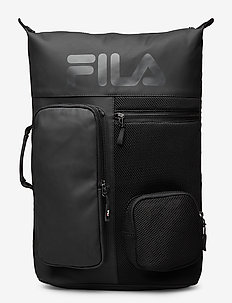 BACKPACK FROSTED PU-3D MESH - torby treningowe - black