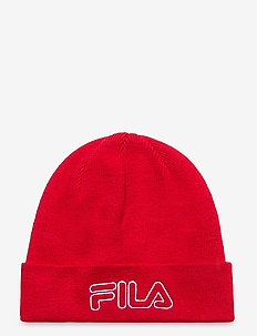 BEANIE with outline logo - mössor - true red