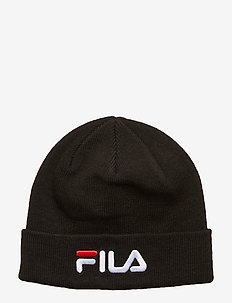 BEANIE with linear logo - bonnet - black