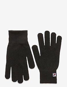 BASIC knitted gloves with F-box logo - accessories - black