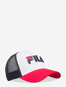 TRUCKER CAP leniar logo - BLACK IRIS-TRUE RED-BRIGHT WHITE