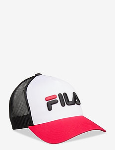 TRUCKER CAP leniar logo - petten - true red-bright white-black
