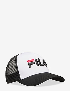 TRUCKER CAP leniar logo - BLACK-BRIGHT WHITE