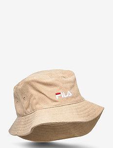 CORD BUCKET HAT with linear logo - bucket hats - irish cream
