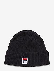 FISHERMAN BEANIE with F-box logo - bonnet - black iris