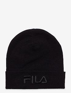 SLOUCHY BEANIE with tonal logo - bonnets - black