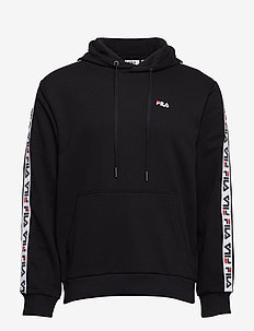 MEN DAVID taped hoody - BLACK