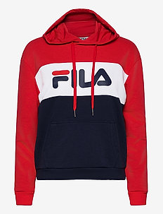 LORI HOODIE SWEAT - bluzy z kapturem - black iris-true red-bright white