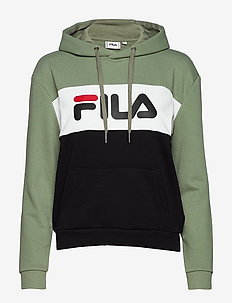 LORI HOODIE SWEAT - SEA SPRAY-BLACK-BRIGHT WHITE