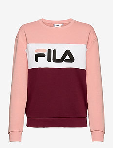 LEAH CREW SWEAT - bluzy - tawny port-coral cloud-bright white