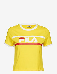 ASHLEY CHROPPED TEE - EMPIRE YELLOW