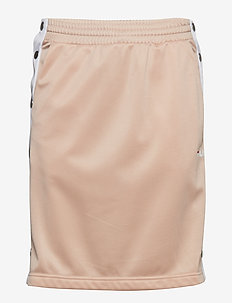 JENNA BUTTONED TRACK SKIRT - CAMEO ROSE