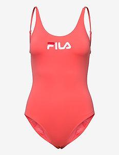 WOMEN SAIDI swim suit - stroje kąpielowe - calypso coral