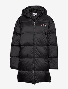 WOMEN BRONWEN puff hood jacket - 002 - BLACK