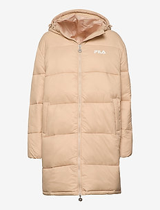 WOMEN BRONWEN puff hood jacket - dunkappor - irish cream