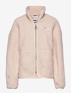 WOMEN HAJAR sherpa fleece jacket - A032 - WHITECAP GRAY