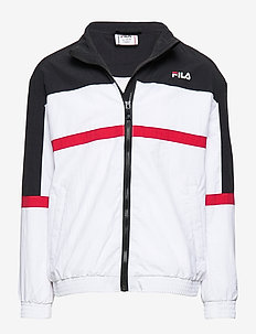 KIDS KAYAN wind jacket - BRIGHT WHITE-BLACK-TRUE RED