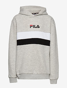 KIDS ELLANAH hoody - kapuzenpullover - light grey melange bros-bright white-black