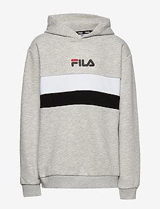 KIDS ELLANAH hoody - kapuzenpullover - light grey melange bros-bright white-black