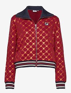 WOMEN LERDIDWEN AOP track jacket - A259 - RHUBARB-MANDARIN ORANGE ALLOVER