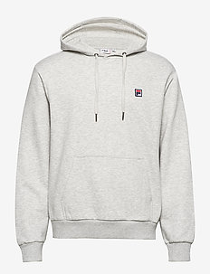 MEN VICTOR hoody - basic sweatshirts - light grey melange bros
