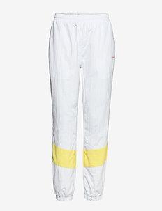 WOMEN BAKA woven track pant - trainingsbroek - bright white-limelight