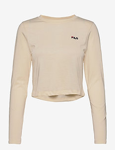 WOMEN EAVEN cropped long sleeve shirt - crop tops - eggnog