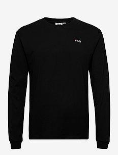 MEN EITAN long sleeve shirt - basic t-shirts - black
