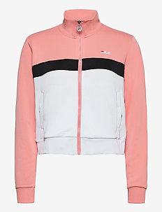 WOMEN SAMAH track jacket - sweatshirts - lobster bisque-bright white-black