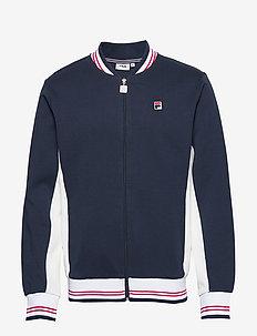 MEN SETTANTA track jacket - BLACK IRIS-BLANC DE BLANC