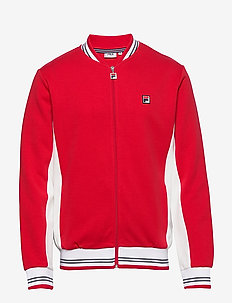 MEN SETTANTA track jacket - TRUE RED-BLANC DE BLANC