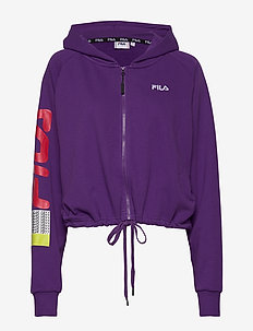 WOMEN CAILYN zip hoody - hoodies - tillandsia purple