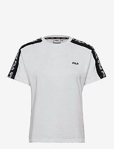 WOMEN TANDY tee - t-shirts - bright white-black