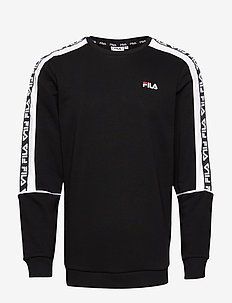 MEN TEOM crew sweat - BLACK-BRIGHT WHITE
