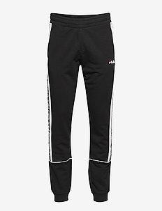 MEN TEVIN sweat pants - sweatpants - black-bright white