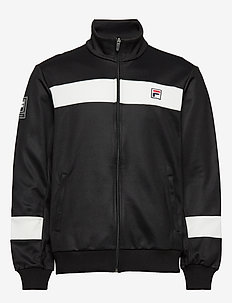 MEN TAHIR track jacket - BLACK-BLANC DE BLANC