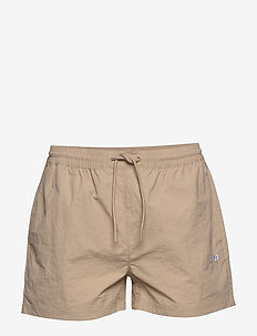 MEN MANOLO woven shorts - badebukser - oxford tan