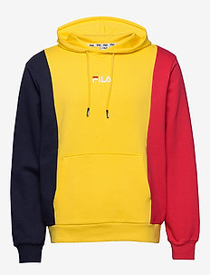 MEN SABURO hoody - hættetrøjer - dandelion-true red- black iris