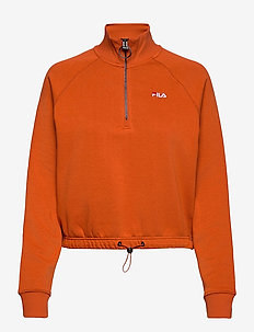 WOMEN MARCY half-zip sweater - bluzy - cinnamon stick