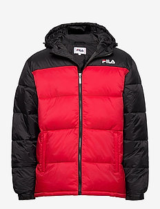MEN SCOOTER puffer jacket - toppatakit - black-true red