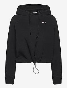 WOMEN ELAXI cropped hoody - pulls à capuche - black