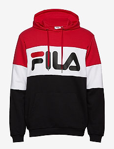 MEN NIGHT blocked hoody - hættetrøjer - true red-black-bright white