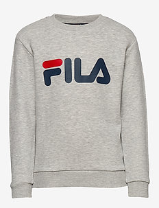 KIDS CLASSIC logo crew sweat - bluzy - light grey melange bros